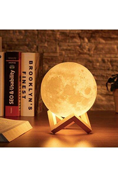 Raicon 3d Standlı Ay Gece Lambası Dekoratif Küre Led