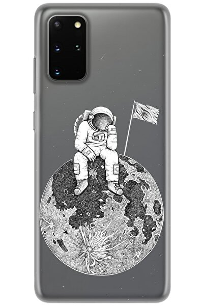 Samsung Galaxy S20 Plus Kılıf Hd Baskılı Kılıf - Astronot Yalnızlığı
