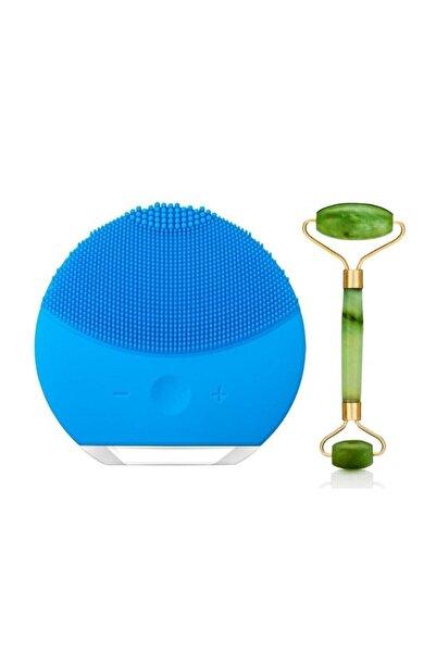 Forever Luna Mini 2 Titreşimli Cilt Temizleme Cihazı Şarjlı + Yeşim Taşı Roller