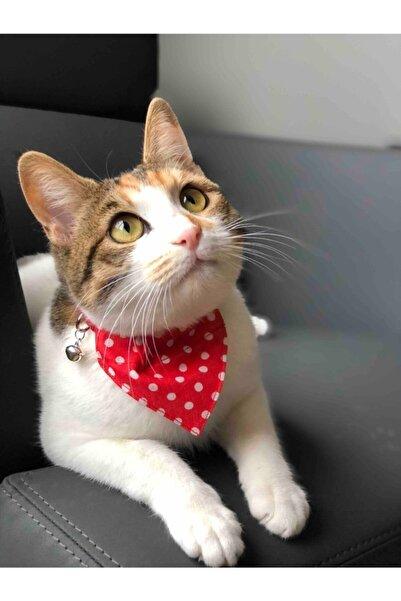 DECORTEX Kedi Boyun Tasması Fularlı Çıngıraklı Kırmızı
