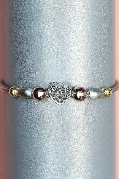 Molenza Kadın Kalpli Gümüş Bileklik