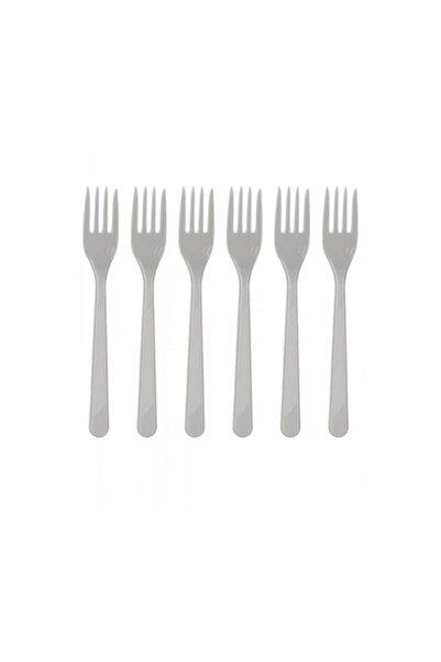 Dipak Gümüş Renk Plastik Çatal 25 Adet