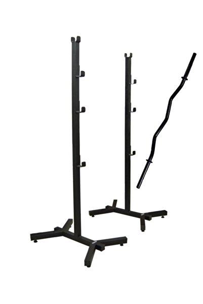 Presto Bnc-01 Bench Press Squat Halter Standı Sehpası Ve 120 cm Siyah Z Bar