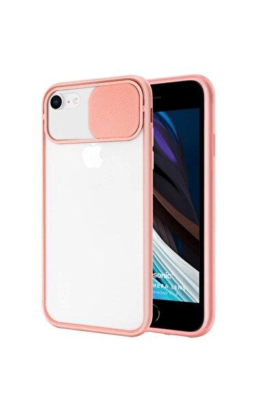 Kılıfland Iphone 6 6s Uyumlu Kılıf Slider Kamera Korumalı Sürgülü Case Pembe + Kablo Koruyucu