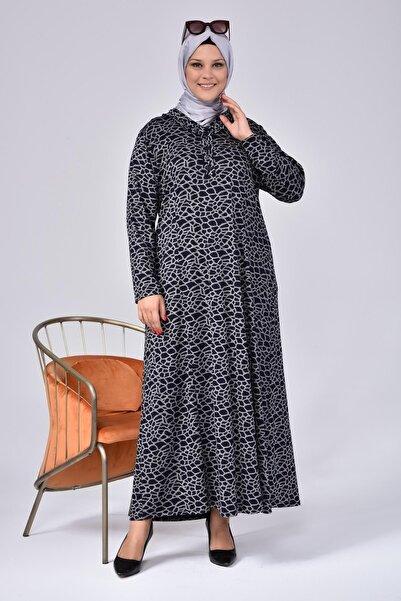 Ferace Kadın Büyük Beden Yakası Fırfırlı Tesettür Anne Elbisesi Yakma Yapmaz.terletmez