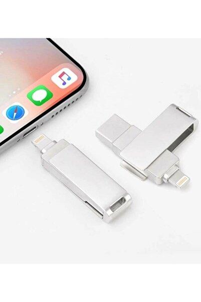 VEHASTORE 32 Gb Iphone Uyumlu Otg Metal Usb Flash Bellek Iphone Ipad Uyumlu