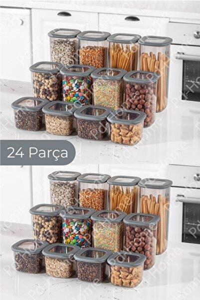PD-Home Foly Kare Erzak Saklama Kabı 24'lü Set 8x(0,55 LİTRE, 1,2 LİTRE, 1,75 LİTRE)