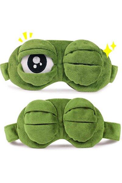 Planet Butik Kurbağa Uyku Bandı Uyku Maskesi