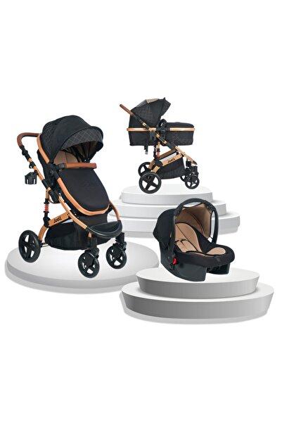 Joell New Truva Iıı Travel Sistem Bebek Arabası - Gold Siyah