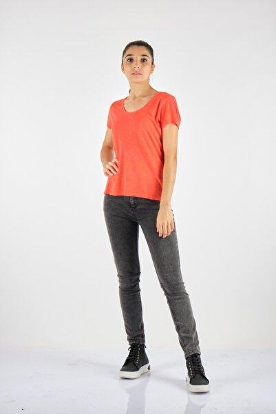 American Vintage Yuvarlak Yaka Kısa Kol Turuncu Penye T-ShirtJac48vh21