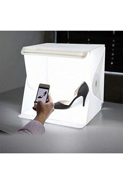 Neler Geldi Neler Ürün Çekim Çadırı 23x23cm 20led Katlanabilir Resim Fotoğraf Çekme Kutusu Portatif Işıklı Mini Stüdyo