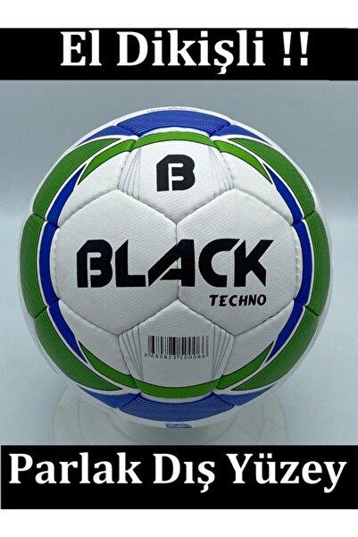 Povit Sert Zemin Için Çok Katmanlı 420 Gr 32 Parça 4 Astarlı Poliüretan Deri Black Techno No:5 Futbol Topu