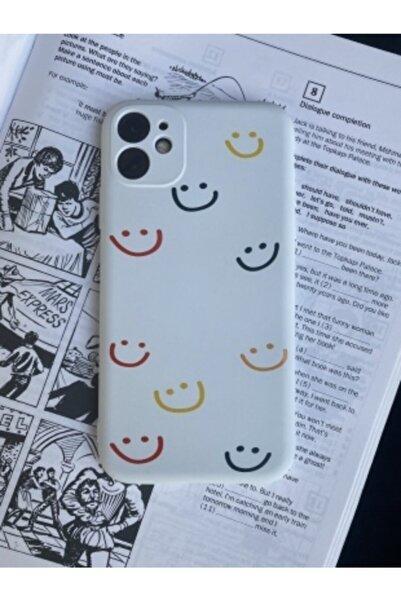 Mislina Iphone 11 Uyumlu Smile Desenli Baskılı Kamera Korumalı Kapak Kılıf
