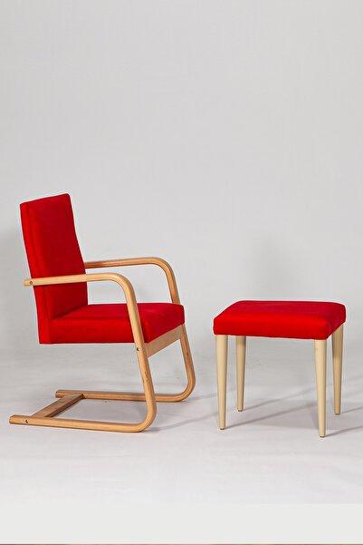 SANDALİE Konfor Sallanır Sandalye / Kırmızı Dinlenme Kitap Okuma Tv Koltuğu Sallanan Sandalye