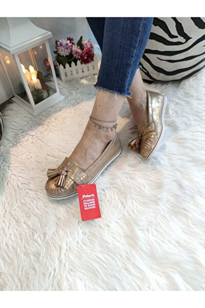 Polaris 6839 Altın Kadın Ayakkabı
