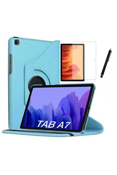 Samsung Galaxy Tab A7 Sm T500 T505 T507 Uyumlu Dönebilen Tablet Kılıfı + Ekran Koruyucu + Kalem 10.4 Inç
