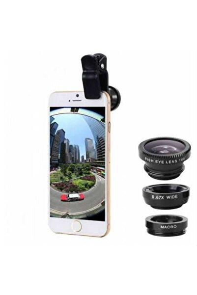SARFEX Geniş Açı Balık Gözü Lens Seti Balıkgözü Makro Telefon Lensi