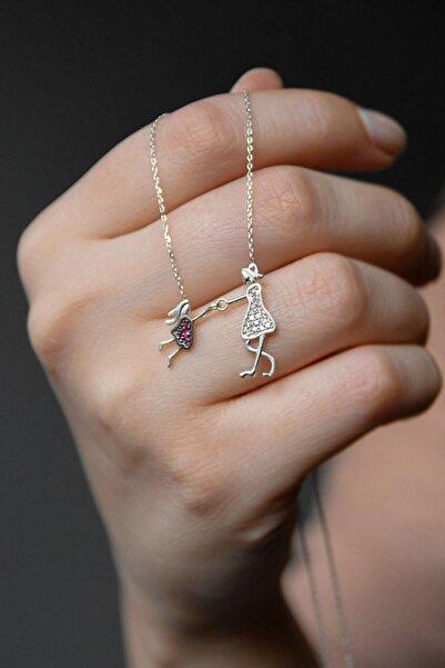 Papatya Silver 925 Ayar Kadın Anne Ve Kız Çocuk Model Rodyum Kaplama Gümüş Kolye