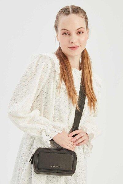 Manuka Kadın Siyah Mini Kutu Çanta