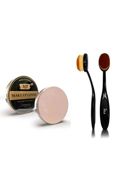 Makeuptime Izla Klasik Kaşık Fırça + Mt Make Up Cover Porselen Fondöten Kapatıcı 210