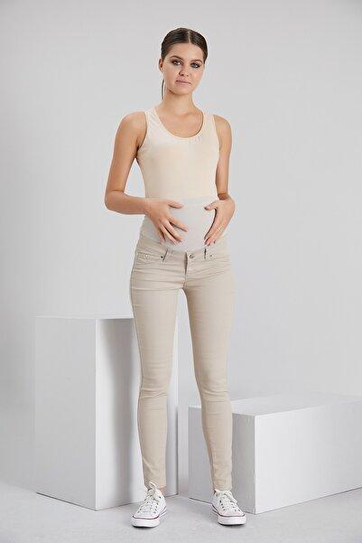 Işşıl Slim Fit Dar Paça Pamuk Hamile Pantolon