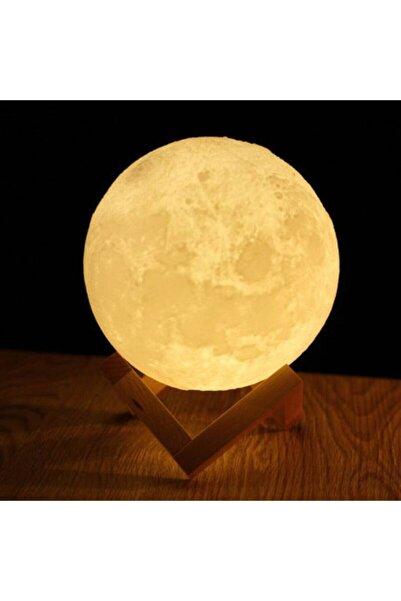 Raicon 10 Cm Standlı Sarı Ay Işığı Dekoratif Ay Küre Gece Lambası