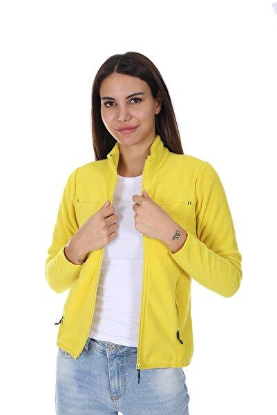 Diandor Kadın Polar Hırka 7002 Sarı/yellow 21w42007002