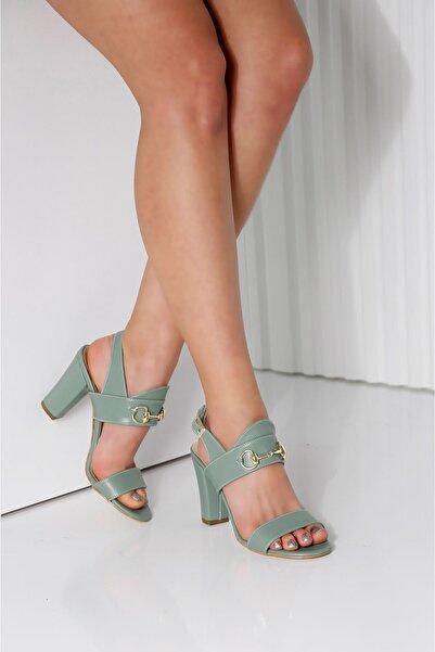Edvani Rayne Mint Yeşili Topuklu Kadın Ayakkabı