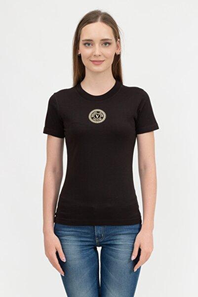 VERSACE JEANS COUTURE Kadın Bisiklet Yaka T-shirt71haht10cj00t