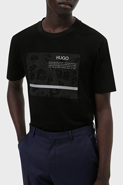 Hugo Boss Regular Fit Baskılı Bisiklet Yaka Pamuklu T Shirt Erkek T Shirt 50457132 001