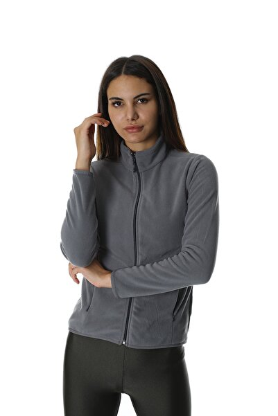 Diandor Kadın Tam Fermuarlı Polar Gri/grey 21w42007012