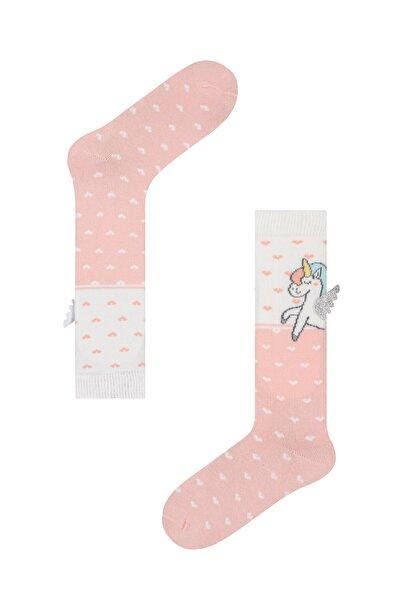 Penti Açık Pembe Free Unicorn Pantolon Çorabı