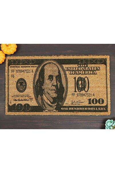 Doormatsy 100 Dolar Desenli Koko Kapı Önü Kıl Paspas (kaymaz Pvc Taban)