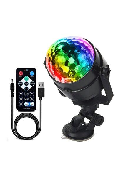 Waxen Sihirli Işık Küresi Renkli Sese Duyarlı Usb Parti Malzemesi Disko Topu Vantuzlu Uzaktan Kumandalı