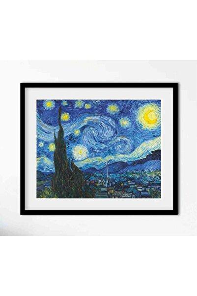 AS TİCARET Yıldızlı Geceler Van Gogh Starry Night Çerçeveli Tablo