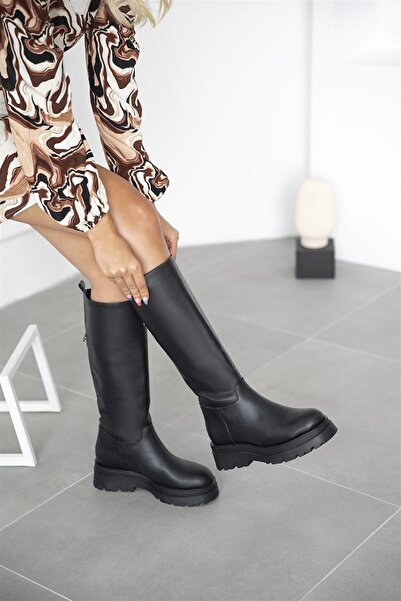 STRASWANS Lina Kadın Deri Çizme Siyah