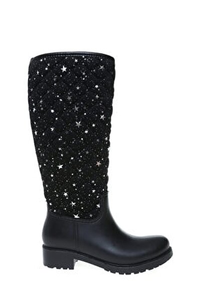 Siyah Kadın Yağmur Çizmesi