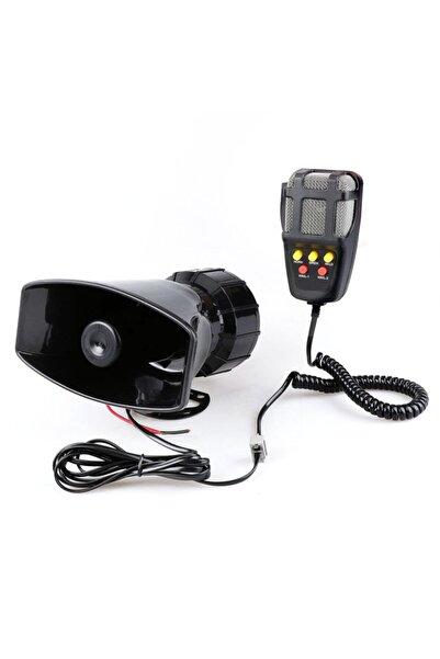 Waxen Mikrofonlu Konuşmalı 5 Sesli Polis Sireni Megafonlu Hoparlör Oto Ambulans Itfaiye Sireni 12v 80w