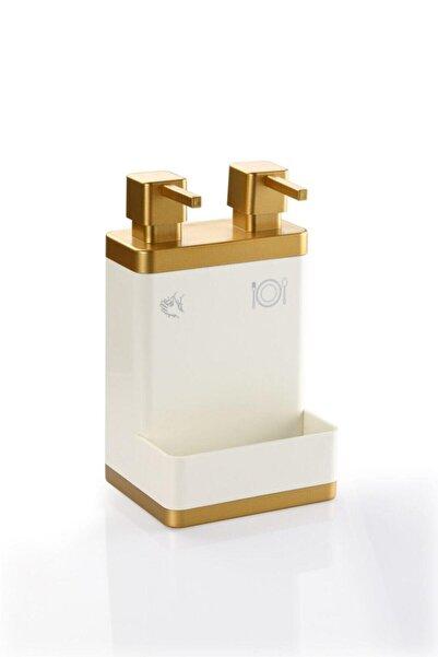Azra Ikili Süngerlikli Sıvı Sabunluk Beyaz Gold