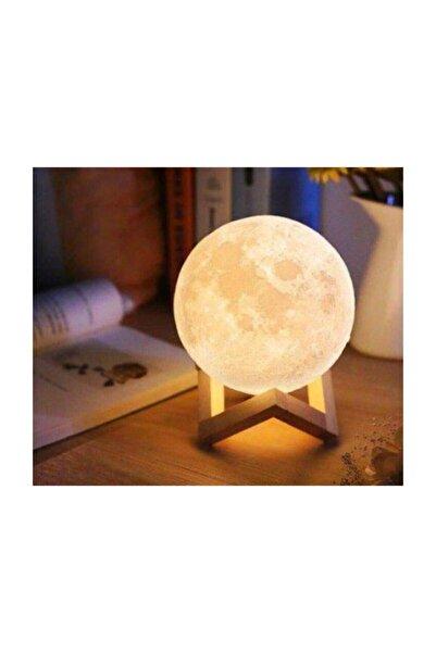 ELBA 3d Standlı Ay Gece Lambası Dekoratif Küre Led