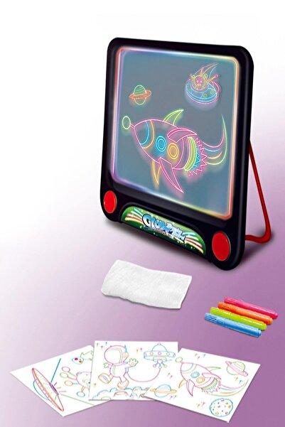 BabyLondy Glow Akıllı Çizim Tahtası Oyun Tahtası Ve 4 Farklı Neon Kalem Oyun Seti