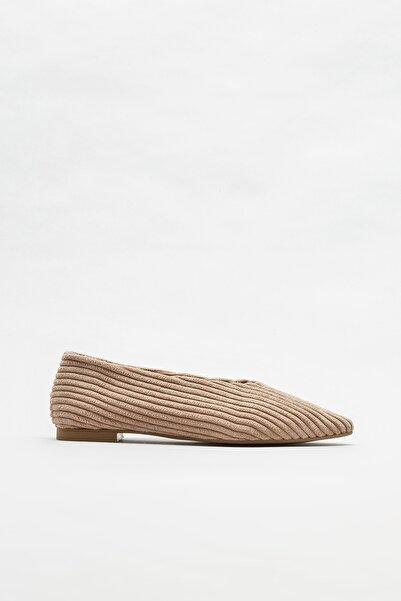 Elle Shoes Naturel Kadın Babet