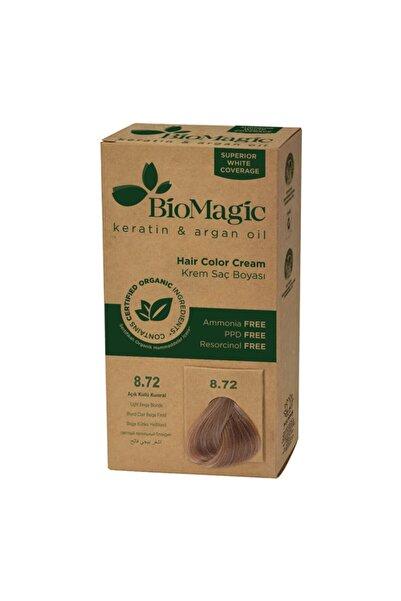 BIOMAGIC Doğal Saç Boyası Açık Küllü Kumral No: 8.72