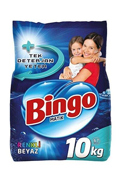 Bingo Renkli Ve Beyazlar Matik Toz Çamaşır Makinesi Deterjanı 10 kg