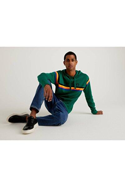 United Colors of Benetton Vintage Logo Kapüşonlu Triko