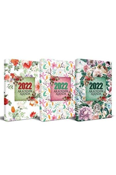 Halk Kitabevi 2022 Akademik Ajanda Sei 3'lü - Beyaz Düş - Yaz Bahçesi - Nostalji