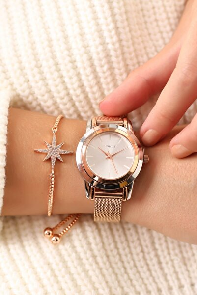 Homies Kadın Rose  Kol Saati ve Bileklik