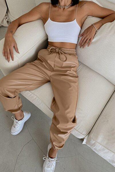 My love butik Jogger Deri Pantolon