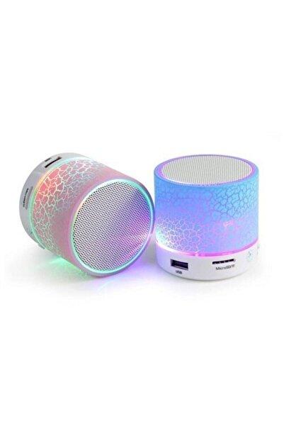 POLYGOLD Işıklı Mini Taşınabilir Bluetooth Hoparlör Kablosuz Speaker Ses Bombası Şarjlı Mp3 Çalar Player