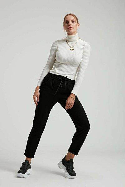 Batik Düz Casual Siyah Pantolon